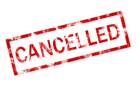Evenement gecancelled